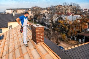 man ready for chimney repair